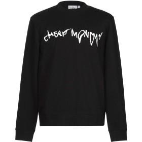 《期間限定セール開催中!》CHEAP MONDAY メンズ スウェットシャツ ブラック M コットン 60% / ポリエステル 40%