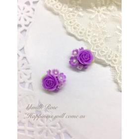 小さな 薔薇 お花 ブーケ パープル 20
