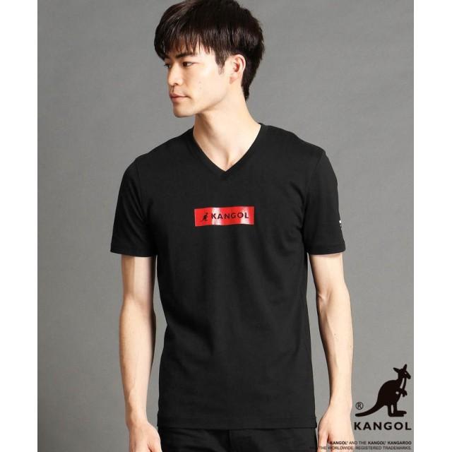 ニコルクラブフォーメン KANGOLコラボVネックTシャツ メンズ 49ブラック 44(S) 【NICOLE CLUB FOR MEN】