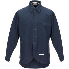 《期間限定セール開催中!》TINTORIA MATTEI 954 メンズ シャツ ダークブルー 41 コットン 98% / ナイロン 2%