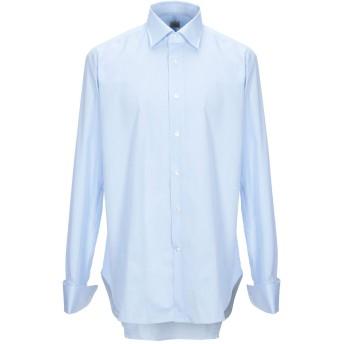 《9/20まで! 限定セール開催中》TRUZZI メンズ シャツ アジュールブルー 44 コットン 100%