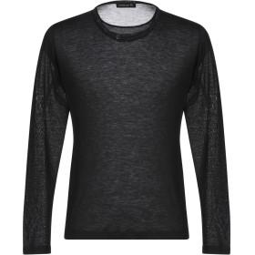 《期間限定 セール開催中》MASTER COAT メンズ T シャツ ブラック M レーヨン 70% / ウール 30%
