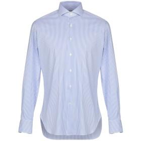 《期間限定セール開催中!》MICHEAL KURRIER Milano メンズ シャツ アジュールブルー 39 コットン 77% / ナイロン 18% / ポリウレタン 5%