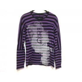 【中古】 マリテフランソワジルボー 長袖Tシャツ サイズS メンズ パープル 黒 マルチ ボーダー