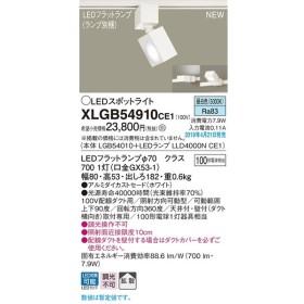 XLGB54910CE1 スポットライト LEDフラットランプ 昼白色 配線ダクト取付型 拡散タイプ 調光不可 白熱電球100形1灯器具相当 Panasonic 照明器具