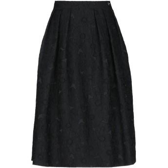 《期間限定セール開催中!》CAVALLI CLASS レディース 7分丈スカート ブラック 40 ポリエステル 97% / ナイロン 3%
