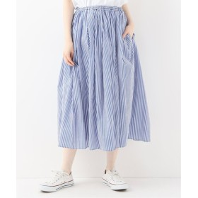 journal standard luxe 【MANUELLE GUIBAL /マニュエルギバル】 Stripe gather Skirt◆ ブルー A 2