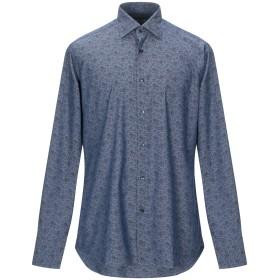 《期間限定セール開催中!》CALIBAN メンズ シャツ ブルー 39 コットン 100%