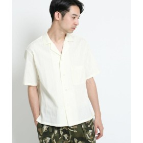 【50%OFF】 ドレステリア カラミ織りストライプシャツ メンズ ホワイト(002) 92(L) 【DRESSTERIOR】 【セール開催中】