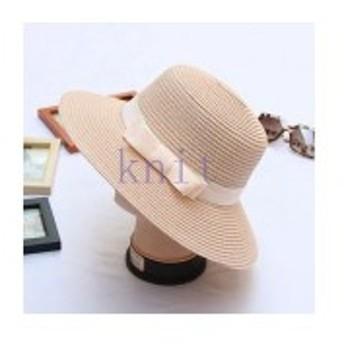 帽子レディース夏新作ストローハット麦わら帽子UVカット日よけ紫外線対策日焼け対策リゾート海辺可愛いリボンJZAH1-AL335