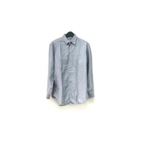 【中古】 アルマーニコレッツォーニ 長袖シャツ サイズ41 メンズ ライトグレー ストライプ