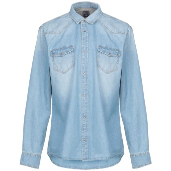 《期間限定 セール開催中》GAUD メンズ デニムシャツ ブルー XXL コットン 100%
