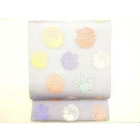 【未使用品】夏袋帯 絽織