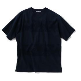 【40%OFF】 シップス SU: リーフ ジャカード パイル ボーダー Tシャツ メンズ ネイビー SMALL 【SHIPS】 【セール開催中】