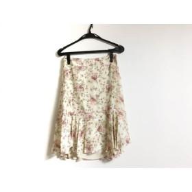 【中古】 ブルマリン BLUMARINE スカート レディース ベージュ ピンク マルチ 花柄