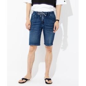 BACK NUMBER 「タテヨコ伸びる」デニムショートパンツ メンズ 中濃加工色