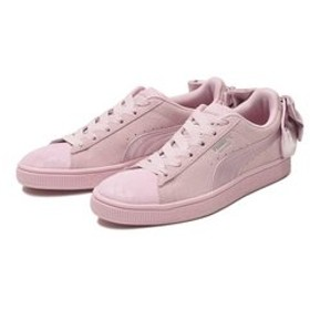 【ABC-MART:シューズ】369217 W SUEDE BOW GALAXY 01PALE PINK/SIL 588579-0001