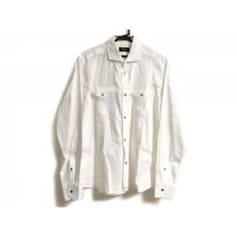 【中古】 エポカ EPOCA 長袖シャツ サイズ48 XL メンズ 白 UOMO