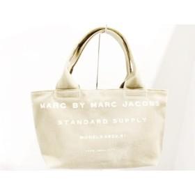 【中古】 マークバイマークジェイコブス ハンドバッグ - M0001572 ダークグリーン 白 キャンバス