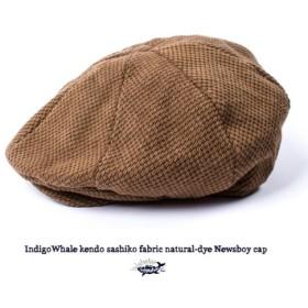 草木染め Newsboy cap