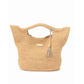 L'Appartement ◇RAFFIA BAG(L) ナチュラル フリー