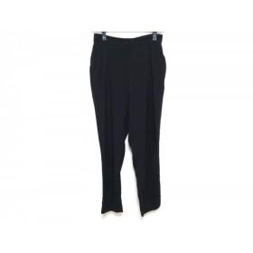 【中古】 エンフォルド ENFOLD パンツ サイズ38 M レディース 黒 ウエストゴム