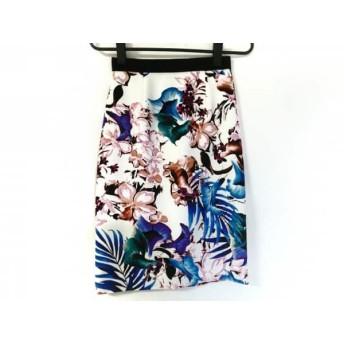 【中古】 ピンキー&ダイアン Pinky & Dianne スカート サイズ34 S レディース 白 マルチ 花柄