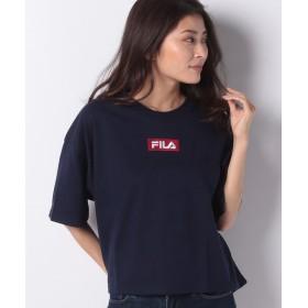 デイジーメリー FILAボックス刺繍Tシャツ レディース ダークブルー M 【DAISY MERRY】