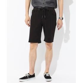 BACK NUMBER 「タテヨコ伸びる」デニムショートパンツ メンズ ブラック