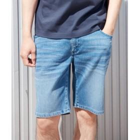 BACK NUMBER 「タテヨコ伸びる」デニムショートパンツ メンズ 淡加工色