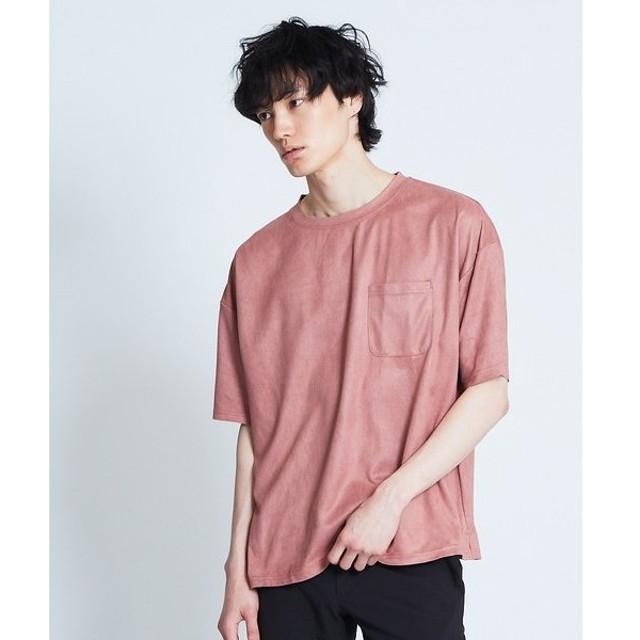 ABAHOUSE / アバハウス 【展開店舗限定】フェイクスエードTシャツ