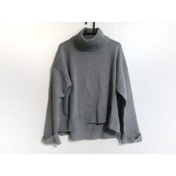 【中古】 オープニングセレモニー 長袖セーター サイズOS レディース 美品 グレー ハイネック