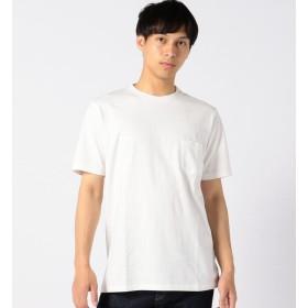 【シップス/SHIPS】 VELVA SHEEN: クルーネック ポケットTシャツ ホワイト