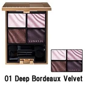 【定形外送料無料】 カネボウ ルナソル ベルベットフルアイズ 【 01 Deep Bordeaux Velvet 】 ( LUNASOL / アイメイク / アイシャドウ )『65』