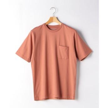 グリーンレーベルリラクシング CM オーガニック クリア クルー SS 半袖 Tシャツ メンズ PINK S 【green label relaxing】