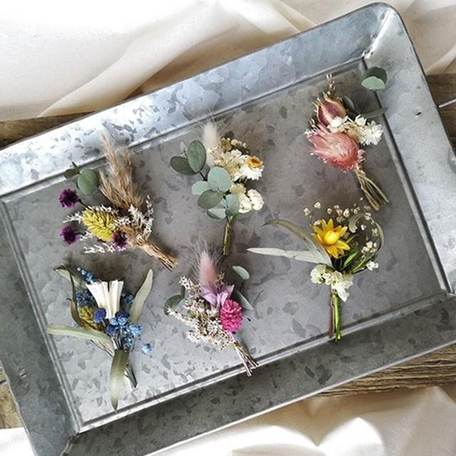 ミニブーケ 結婚式 ミニ花束 席札 ドライ&プリザーブドフラワー ウェディング bouquet002