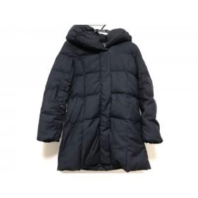 【中古】 エフデ ef-de ダウンコート サイズ7 S レディース 黒 ジップアップ/冬物