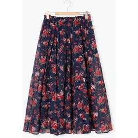 【5,000円以上お買物で送料無料】柄アソートボイルギャザースカート