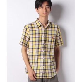 【62%OFF】 ジョルダーノ [GIORDANO]パナママドラスチェックシャツ メンズ イエロー系 M 【GIORDANO】 【セール開催中】