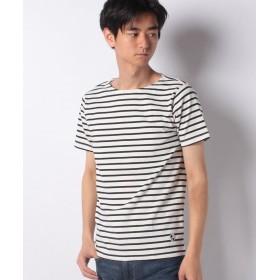 【47%OFF】 イッカ オーガニックコットンボーダーTシャツ メンズ ホワイト L 【ikka】 【セール開催中】