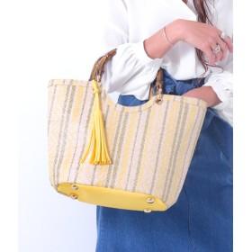 【セール開催中】ANAP(アナップ)マルチストライプラフィアタッチ2WAYバッグ
