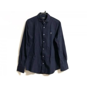 【中古】 エポカ EPOCA 長袖シャツ サイズ48 XL メンズ ダークネイビー UOMO