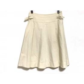 【中古】 マックスマーラ Max Mara スカート サイズ42 M レディース アイボリー プリーツ