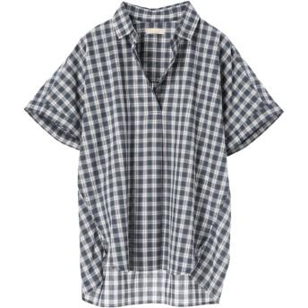 【6,000円(税込)以上のお買物で全国送料無料。】・40キャンブリックスクエアシャツ