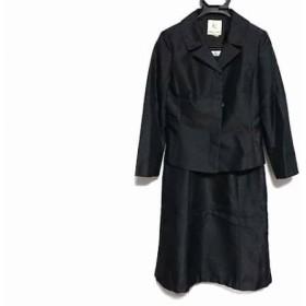 【中古】 クミキョク 組曲 KUMIKYOKU ワンピーススーツ サイズ3 L レディース 黒