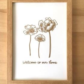 ポスター原画 シンプルゴールド welcome to our home