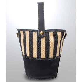【セール開催中】ANAP(アナップ)ストライプ切替2WAYバケツ型バッグ