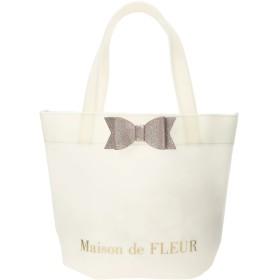 Maison de FLEUR グリッターリボントートバッグ