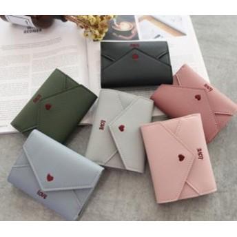 2019新しい女性の多機能財布愛刺繍入りラインレター封筒シンプルなファッション小さな財布