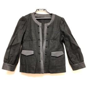 【中古】 レリアン Leilian ジャケット サイズ11 M レディース 黒